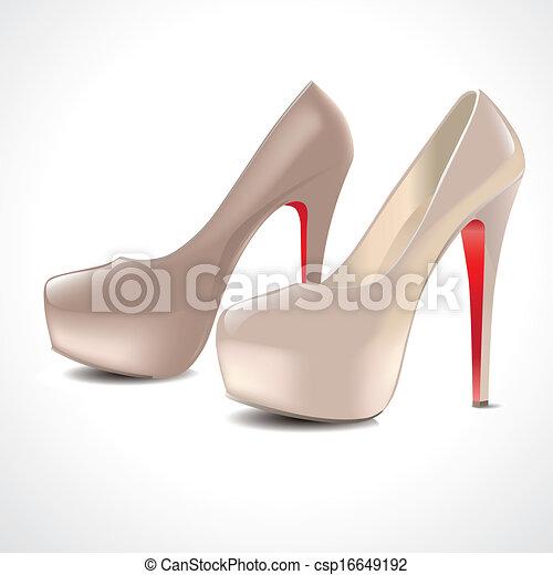 par, sapatos, alto-colocar salto* no* sapato* - csp16649192
