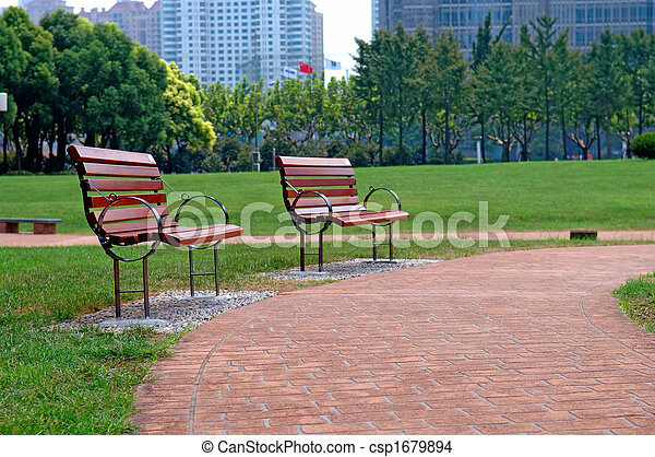 parque cidade, maneira, passeio - csp1679894