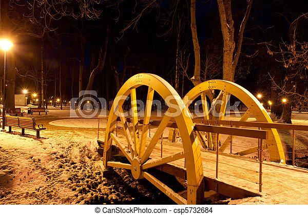 parque, noturna - csp5732684