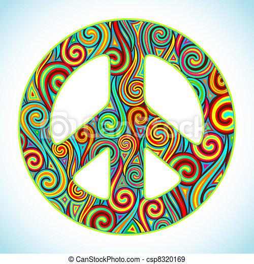 paz, coloridos - csp8320169