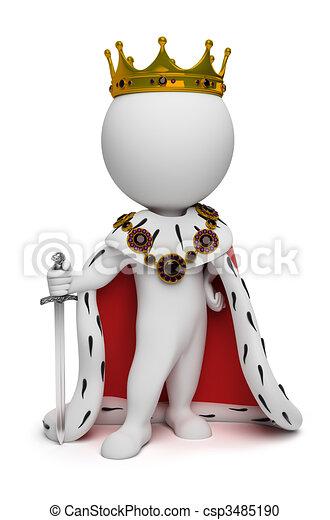 pequeno, rei, 3d, -, pessoas - csp3485190