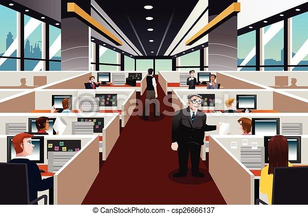 pessoas escritório, trabalhando - csp26666137