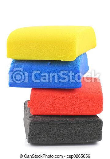 pilha, coloridos, pla - csp0265656