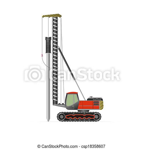 pilha, motorista - csp18358607