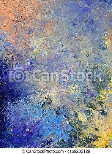 pintado, abstratos, fundo - csp9202129