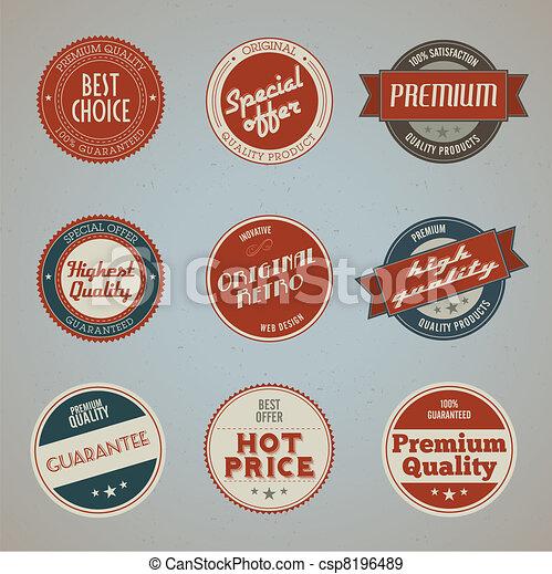 prêmio, etiquetas, jogo, qualidade - csp8196489