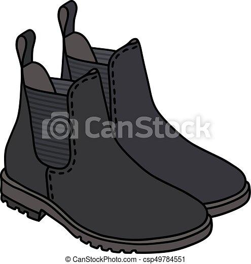 pretas, pêra, botas - csp49784551
