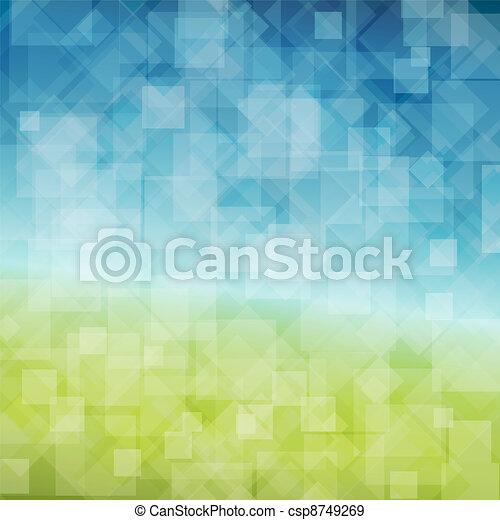 primavera, abstratos, vetorial, fundo - csp8749269
