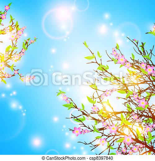 primavera, fundo - csp8397840
