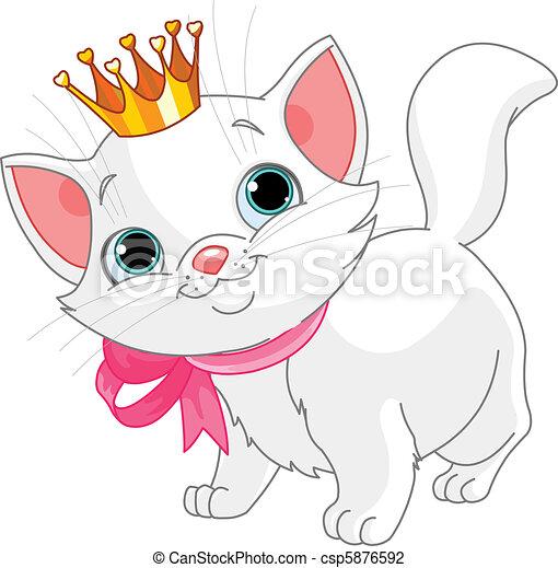 princesa, gatinho - csp5876592