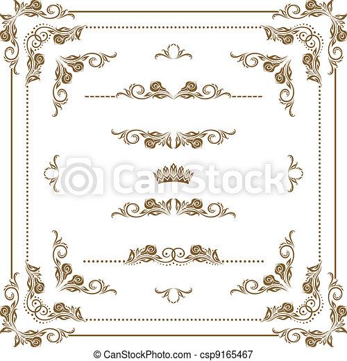 quadro, decorativo - csp9165467