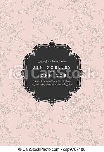 quadro, vetorial, flor, fundo - csp9767488