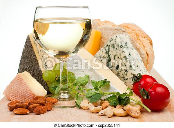 queijo, vinho - csp2355141