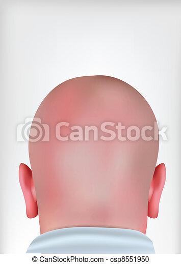 realístico, cabeça, calvo - csp8551950