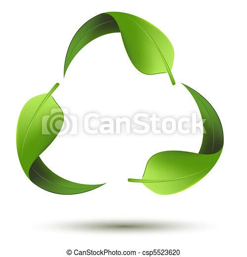 recicle símbolo, folha - csp5523620