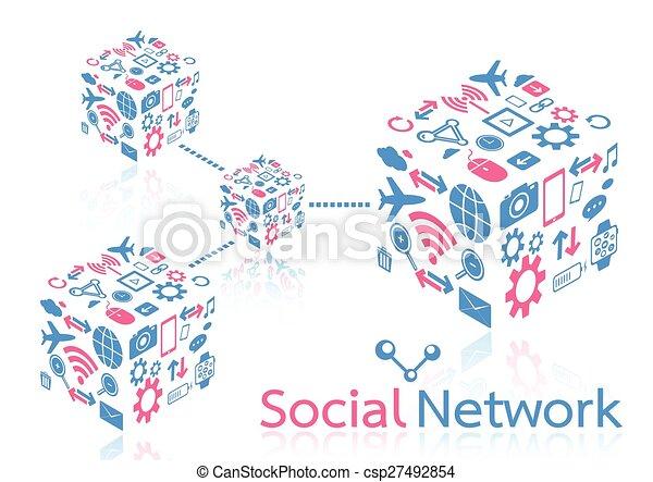 rede, social - csp27492854