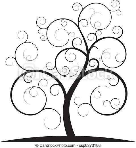 redemoinho, árvore - csp6373188