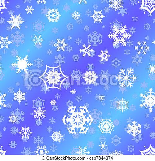 repetindo, backgrou, vetorial, snowflake - csp7844374