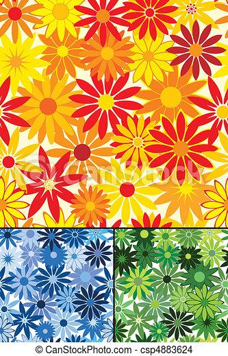 repetindo, flor, seamless, fundo - csp4883624