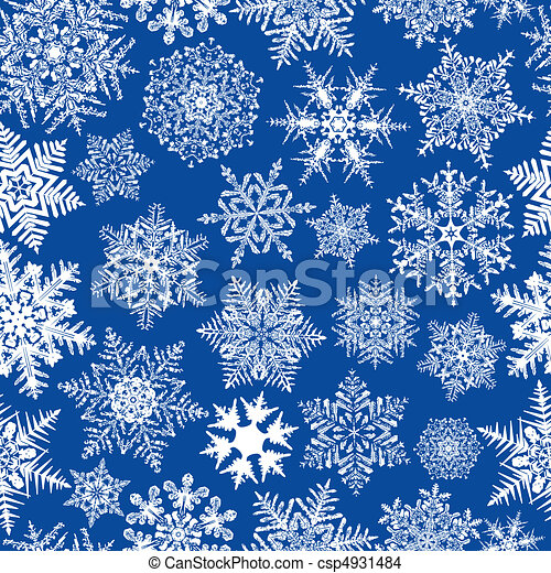 repetindo, seamless, fundo, snowflake - csp4931484