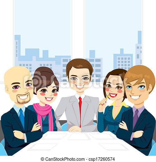 reunião, businesspeople, escritório - csp17260574