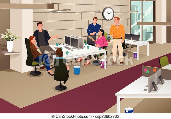 reunião informal, negócio - csp28682702