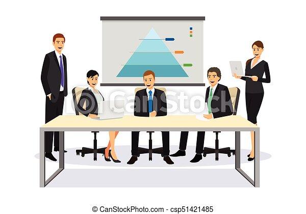 reunião, negócio ilustração, pessoas - csp51421485