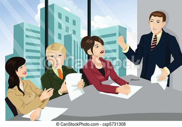 reunião, negócio - csp5731308