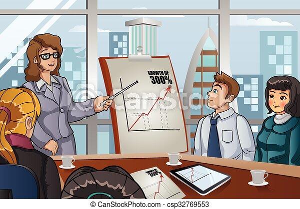 reunião, pessoas negócio - csp32769553
