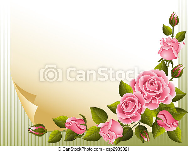 rosas, fundo - csp2933021