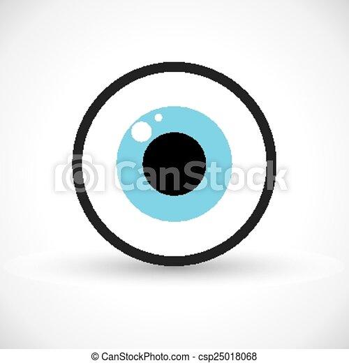 símbolo, olho, ícone - csp25018068