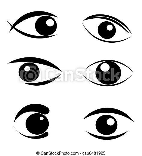 símbolos, olhos, jogo - csp6481925