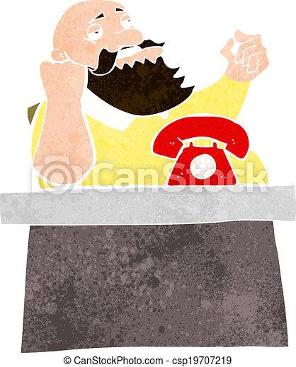 saliência, caricatura, arrogante, homem - csp19707219