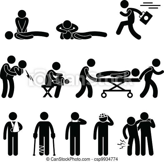 salvamento, emergência, ajuda, cpr, primeiro, ajuda - csp9934774