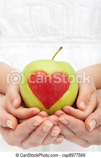 saudável, nutrição, conceito - csp8977569