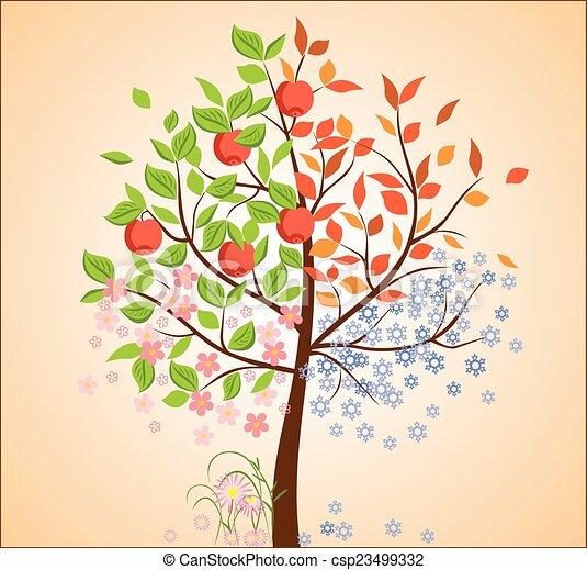 sazonal, árvore - csp23499332