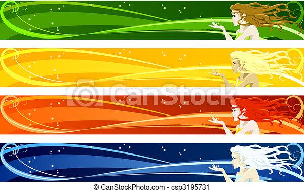 sazonal, bandeiras - csp3195731