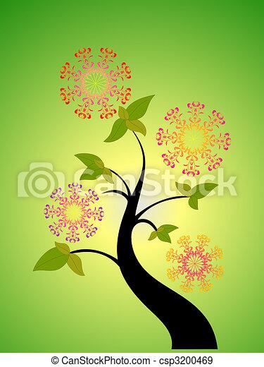 sazonal, flor, árvore - csp3200469