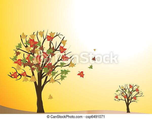 sazonal, outono, árvore - csp6491071