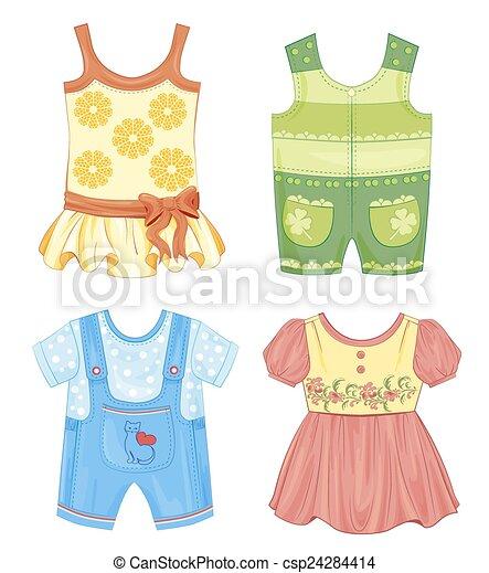 sazonal, roupas, jogo, crianças - csp24284414