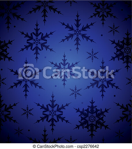 seamless, fundo, snowflake - csp2276642