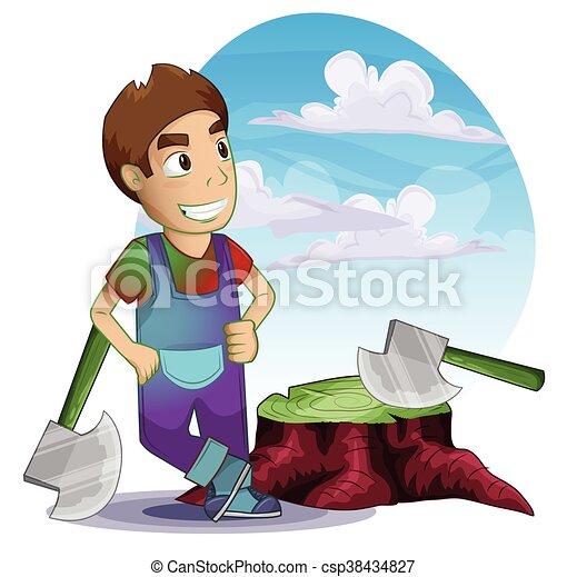 separado, camadas, carpinteiro, homem - csp38434827