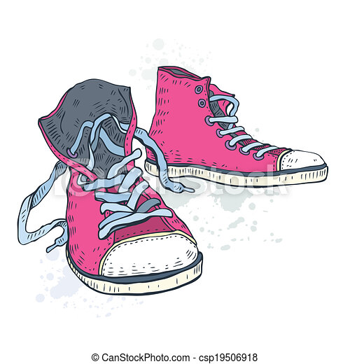 shoes., desporto, sneakers. - csp19506918