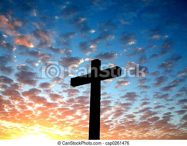 sk, crucifixos, nublado - csp0261476