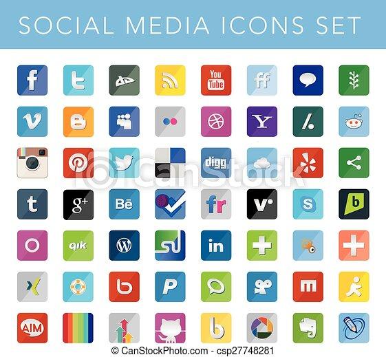 social, mídia, ícones, jogo - csp27748281