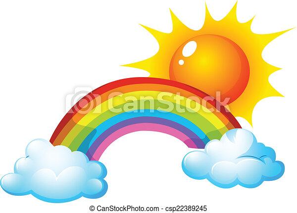 sol, arco íris - csp22389245