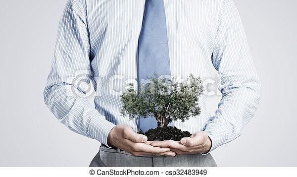 solo, árvore, verde - csp32483949