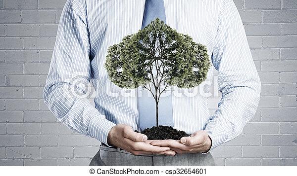 solo, árvore, verde - csp32654601