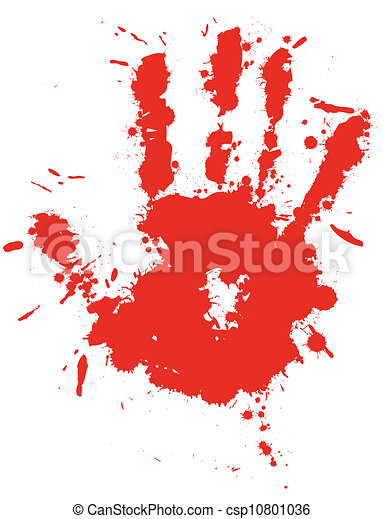 splatter, gota, mão, respingo, sangue, vector., tinta, impressão, vermelho - csp10801036