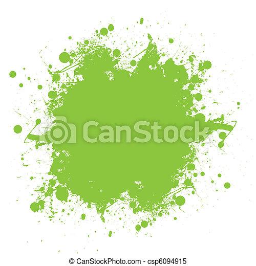 splatter, verde, tinta - csp6094915